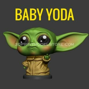 Baby Yoda 3D Print Model