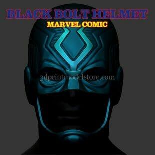 Marvel Black Bolt Helmet 3D Print Model