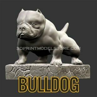 Bulldog 3D Print Model
