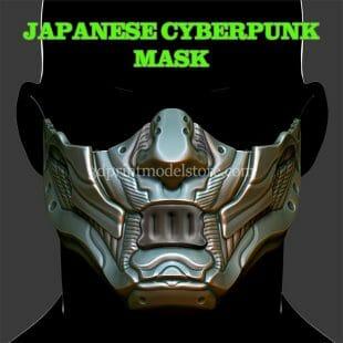 Japanese Cyberpunk Mask 3D Print Model
