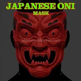 Japanese Cyborg Samurai Oni Mask