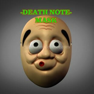 Death Note Cosplay Mask 3D Print Model