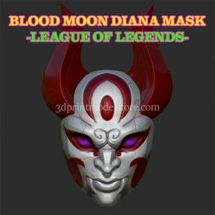 Blood Moon Diana Mask