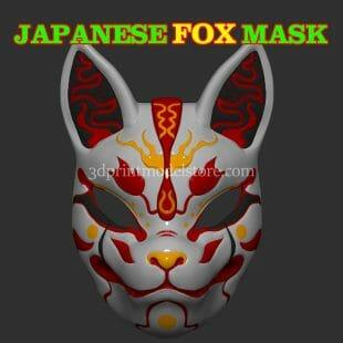Demon Kitsune Fox Mask