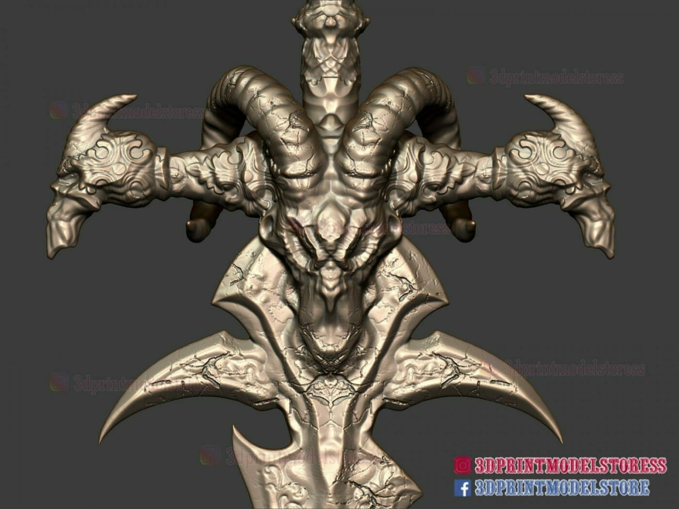 Frostmourne from Warcraft 3D Print Model