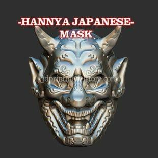 Japanese HannyaMask 3D Print Model