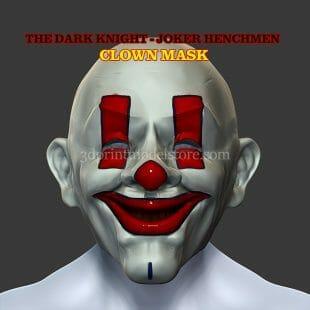 Henchmen Adult Clown Mask 3D