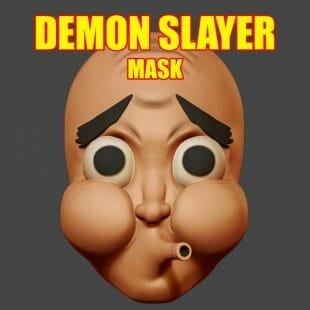 Demon Slayer Hotaru Hyotokko Cosplay Mask
