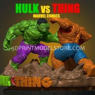 Hulk vs Thing Marvel