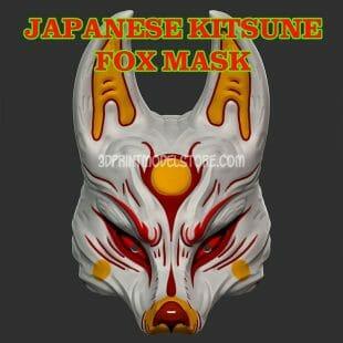 Japanese Demon Kitsune Fox Mask