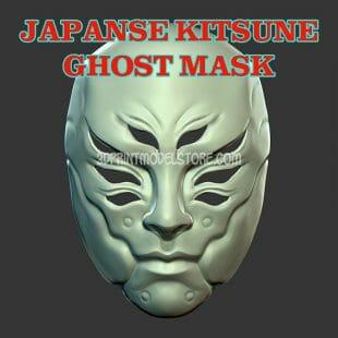 Japanese Demon Kitsune Ghost Mask