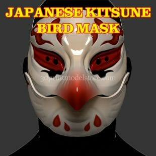 Japanese Kitsune Bird Mask