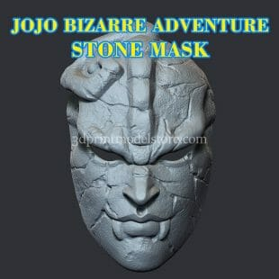 JoJo's Bizarre Adventure Stone Mask 3D Print Model