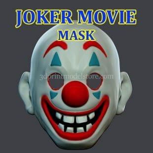 Joker Movie Mask 3D Print Model