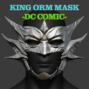 Aquaman King Orm Mask 3D Print Model