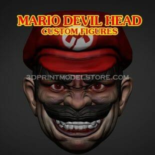 Devil Mario Head Sculpt