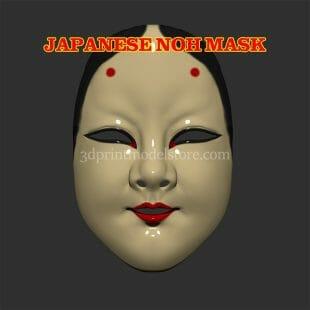 Japanese Noh Mask 3D Print Model