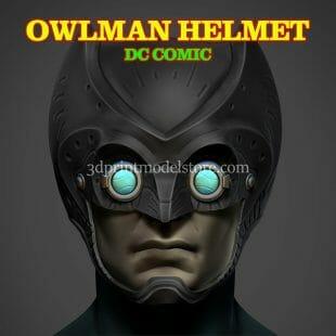 DC Comics Owlman Helmet 3D Print Model