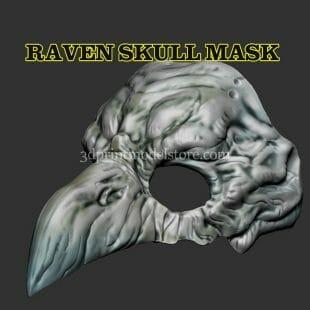 Raven Skull Mask 3D Print Model