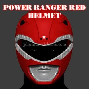 Red Ranger Helmet 3D Print Model