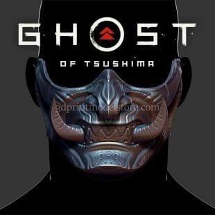 Samurai Oni Ghost Mask 3D Print Model