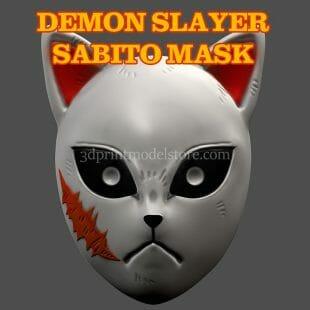 Demon Slayer Sabito Cosplay Mask 3D Print