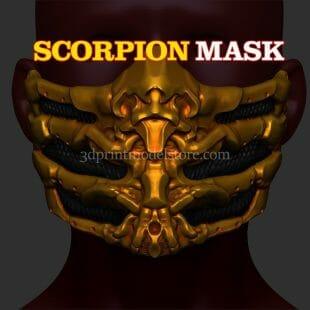 Mortal Kombat Scorpion Mask 3D Print
