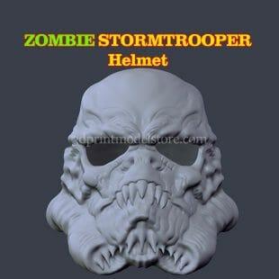 Zombie Stormtrooper Helmet 3D Print