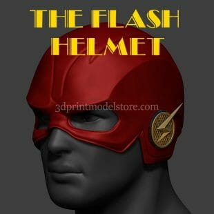 The Flash Season 5 Helmet 3D Print Model