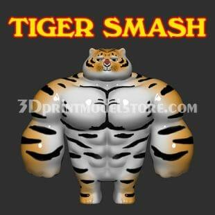 Tiger Smash 3D Print Model