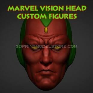 Marvel Vision Head Custom Figures