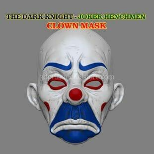 The Joker Henchmen Adult Clown Mask