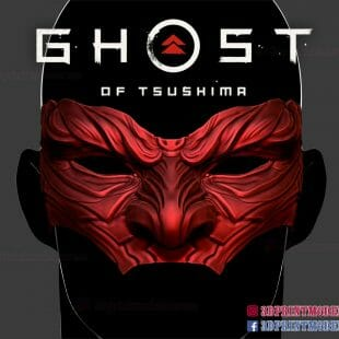 Ghost of Tsushima Mask 3D Print