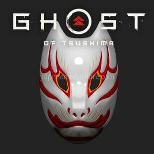 Shattered Mask of Tomoe 3D Print Model