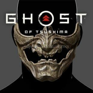 Ghost of Tsushima Skeletal Mask 3D Print Model