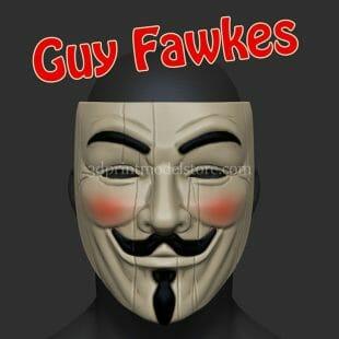 Guy Fawkes Mask 3D Print Model