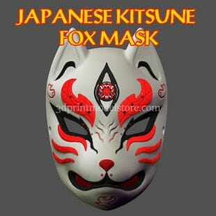 Kitsune Fox Mask 3D Print Model
