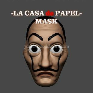 Lacasa de Papel Money Heist Dali Mask