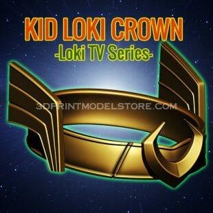 Kid Loki Crown 3D Print Model