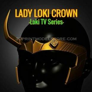 Lady Loki Crown 3D Print Model