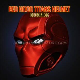 Red Hood Titans Helmet 3D Print