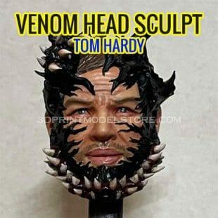 Venom Tom Hardy Head Sculpt for Custom Action Figures