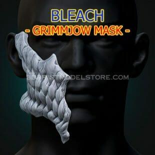 Bleach Grimmjow Skull Mask 3D Print