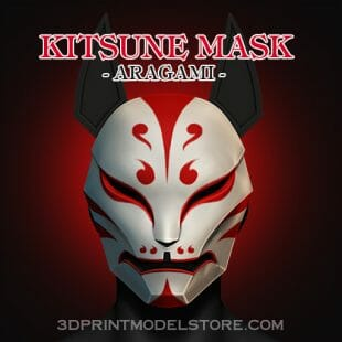 Aragami Kitsune Mask 3D Print Model